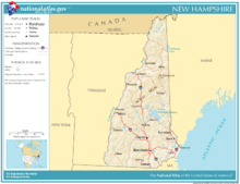Map New Hampshire